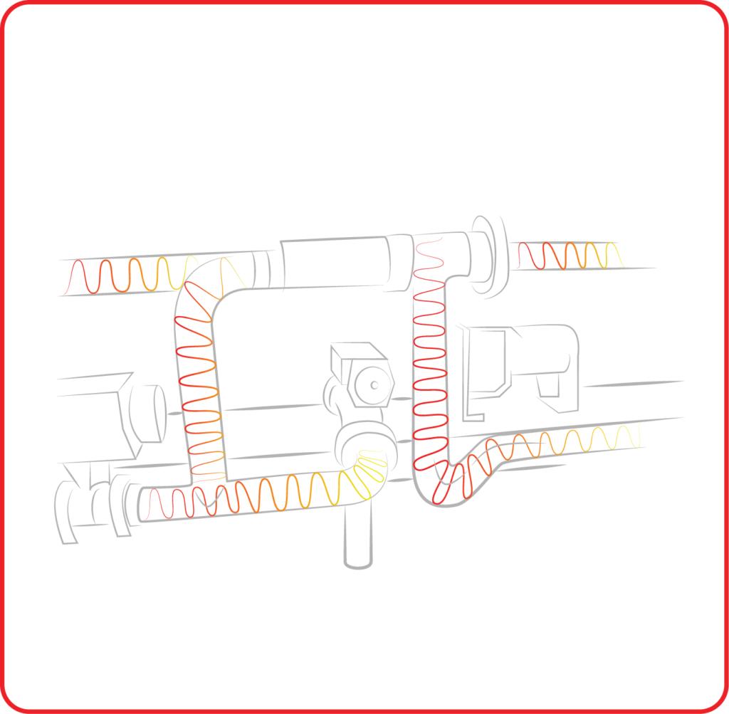 Riscaldatori per linee tubazioni