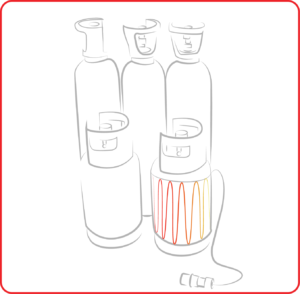 Atex manta calefactora bombona gas